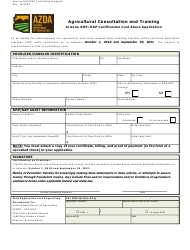 """""""Agricultural Consultation and Training - Arizona Ghp/Gap Certification Cost Share Application"""" - Arizona"""