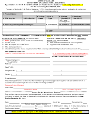 """""""Application for New Registration of Pesticide Products for Company Names N - Z"""" - Alabama, 2022"""