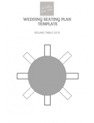 Wedding Seating Plan Templates