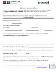 """Backdate Enrollment Form"" - Colorado"