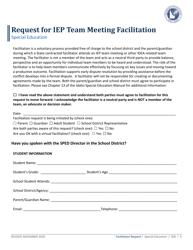 """Request for Iep Team Meeting Facilitation"" - Idaho"