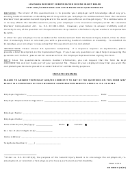 "SIB Form D ""Post-hire/Conditional Job Offer Knowledge Questionnaire"" - Louisiana"
