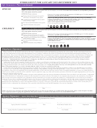 """Contractual/Variable Hour Employees Health Benefits Enrollment and Change Form"" - Maryland, Page 4"