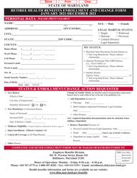 """Retiree Health Benefits Enrollment and Change Form"" - Maryland, 2021"