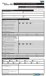 "Forme V-1011 ""Circulation Sur Une Uab - Demande D'autorisation"" - Quebec, Canada (French)"