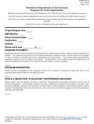 """Form OP-120104 Attachment A """"Request for Grant Application"""" - Oklahoma"""