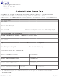 "Form DOH505-089 ""Credential Status Change Form"" - Washington"
