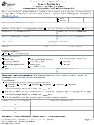 """DSHS Form 10-572 """"Respite Application for Overnight Planned Respite (Oprs), Emergent and/Or Planned Short-Term Stay Services at an Rhc"""" - Washington"""