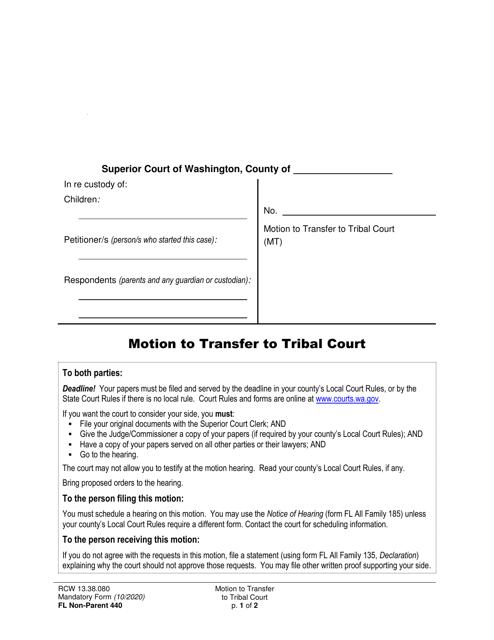 Form FL Non-Parent440 Printable Pdf