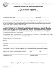 "Form TABI-02 ""Tabi Verification of Diagnosis"" - Alaska"