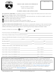 """Form CC40 """"In-home Child Care Application"""" - Alaska"""