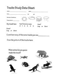 """Tracks Study Data Sheet"" - Alaska"