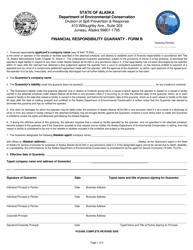 "Form B ""Financial Responsibility Guaranty"" - Alaska"
