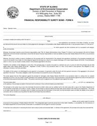 "Form A ""Financial Responsibility Surety Bond"" - Alaska"