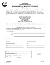 "Form 1100-740 ""Request for Release of Processor Information - Coar Data"" - Alaska"