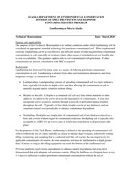"Attachment A ""Landfarming Checklist"" - Alaska"