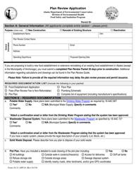 "Form 18-31-APP.01 ""Plan Review Application"" - Alaska"