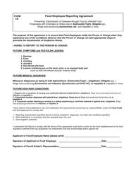 "Form 1-B ""Food Employee Reporting Agreement"" - Alaska"