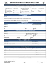 """Non-mortgage Industry License Change Application (Chg)"" - Arizona"