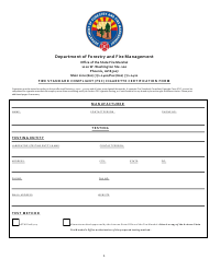 "Form FSC-2 ""Fire Standard Compliant (FSC) Cigarette Certification Form"" - Arizona"