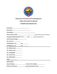 """Trampoline Court Inspection Form"" - Arizona"