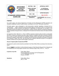 "Form DFFM SOG1802 ""Public Records Request Form"" - Arizona"