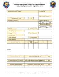 """Cooperator Equipment Rate Negotiation Form"" - Arizona"