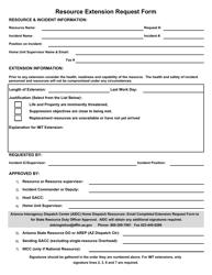 """Resource Extension Request Form"" - Arizona"