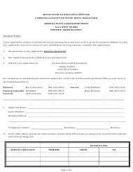 """Application to Reactive Livestock Carrying Capacity on State Trust Rangeland"" - Arizona"