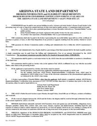 """""""Broker Registration/Bidder Certification"""" - Arizona"""