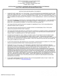 """Form ADWR58-700 """"Notification of Change of Ownership and/or Change in Point of Withdrawal for a Type 2 Non-irrigation Grandfathered Right"""" - Arizona"""
