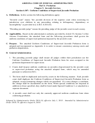 "Appendix A ""Uniform Conditions of Supervised Juvenile Probation Form"" - Arizona"