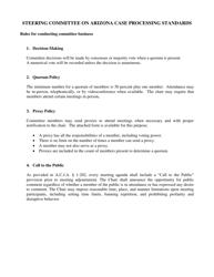 """Steering Committee on Arizona Case Processing Standards Proxy Designation Form"" - Arizona"