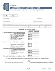 """Lobbyist Quarterly Expenditure Report"" - Arizona"
