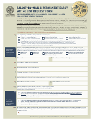 """""""Ballot-By-Mail & Permanent Early Voting List Request Form"""" - Arizona (English/Spanish)"""