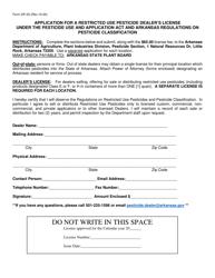 """Form DP-23 """"Restricted Use Pesticide Dealer's License"""" - Arkansas"""