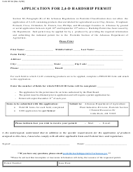 "Form DP-61 ""Application for 2,4-d Hardship Permit"" - Arkansas"