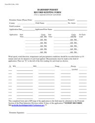 "Form DP-63 ""Hardship Permit Record Keeping Form"" - Arkansas"