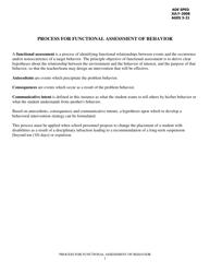 """""""Process for Functional Assessment of Behavior"""" - Arkansas"""