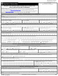 """VA Form 21-0779 """"Request for Nursing Home Information in Connection With Claim for Aid and Attendance"""""""