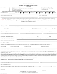 """Form DMS-736 """"Request for Criminal Record Check"""" - Arkansas"""