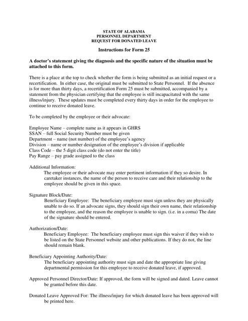Form 25  Printable Pdf