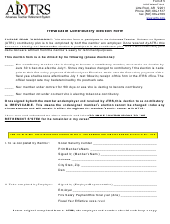 "Form 5 ""Irrevocable Contributory Election Form"" - Arkansas"