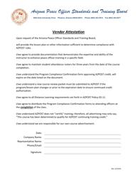 """Vendor Attestation"" - Arizona"