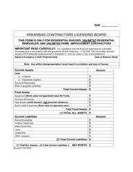 """Balance Sheet"" - Arkansas"