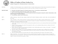 "Instructions for ""Holder Request for Reimbursement"" - Arkansas"