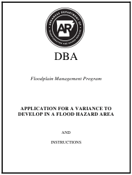 """Application for a Variance to Develop in a Flood Hazard Area"" - Arkansas"