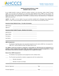 """American Indian Medical Home Member Sign up Form"" - Arizona"