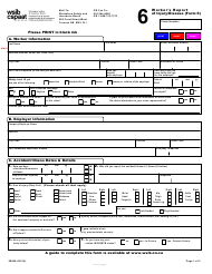 "WSIB Form 6 ""Worker's Report of Injury/Disease"" - Ontario, Canada"