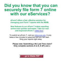 "WSIB Form 7 ""Employer's Report of Injury Disease"" - Ontario, Canada"